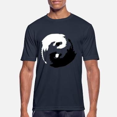 Taoism Yin and Yang Dragon with Spheres - Men's Sport T-Shirt