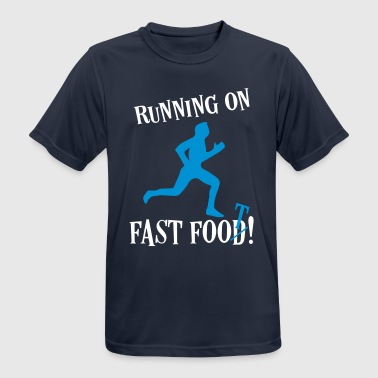 Fitness Running Sports Sayings - Fast Food Runner - Men's Breathable T-Shirt