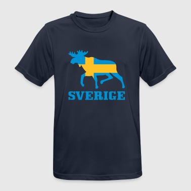 Sverige Sweden Swedish Flag Elk - Men's Breathable T-Shirt