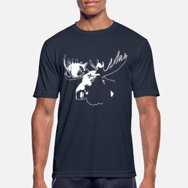 Elg elg - moose - elk - hunting - hunter - Sport T-skjorte for menn