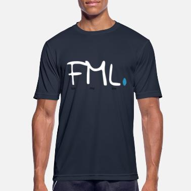 Fuck Vector Fuck My Life FML saying design as a vector - Men's Breathable T-Shirt