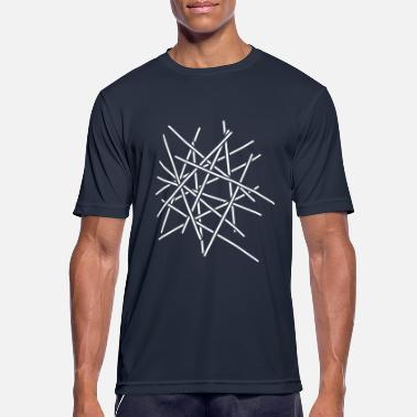 Graphic Art Sticks Chaos Design - Men's Breathable T-Shirt