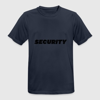 belettering SECURITY - mannen T-shirt ademend