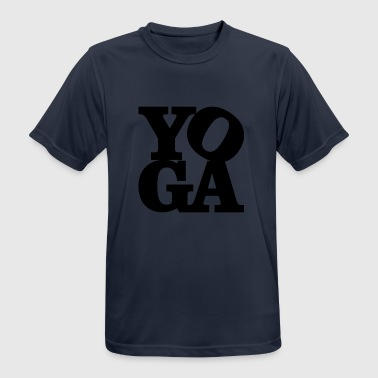 yoga homage to Robert Indiana black inside - Men's Breathable T-Shirt