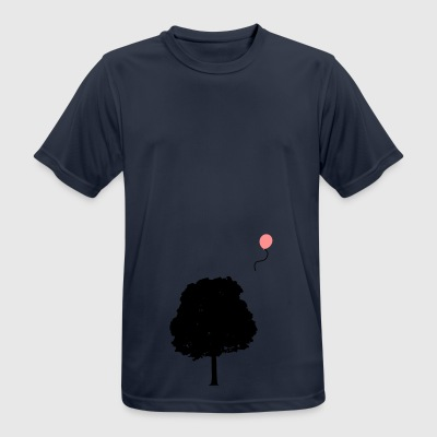 Tree with balloon - Men's Breathable T-Shirt