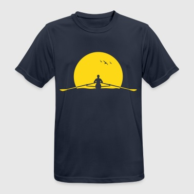 Rowing sunset rower rowing skulls - Men's Breathable T-Shirt