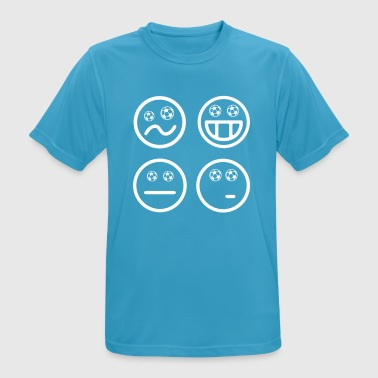 Emoticon Happy Smiley Soccer Emoticon Soccer Happy World Cup - Camiseta hombre transpirable