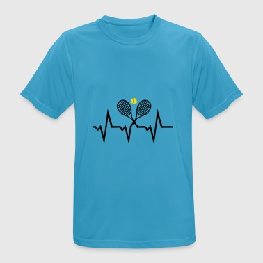Ecg Heartbeat Tennis ECG Heartbeat  - Men's Breathable T-Shirt