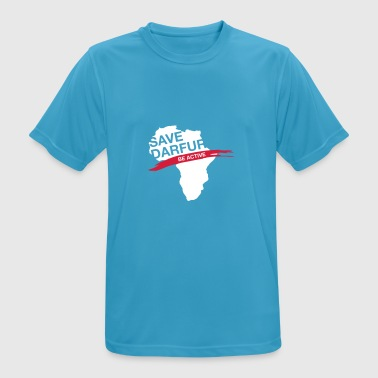 Save Darfur. Be Active! - Men's Breathable T-Shirt
