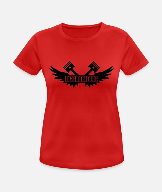 Motorcycle T-Shirts - desmoholic - Women's Sport T-Shirt red