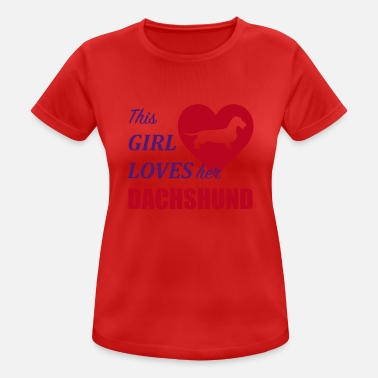 This Girl loves her Dachshund - Women's Sport T-Shirt