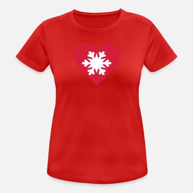 I Love Snow I love Snow - Women's Breathable T-Shirt