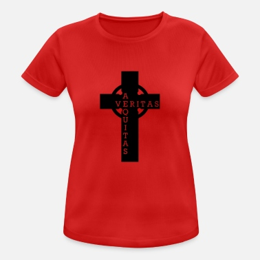Crossed Out Cross out of the bloody path of God - Women's Breathable T-Shirt