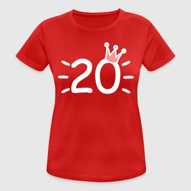 Number Crown Number 20 with crown twenty years old - Women's Breathable T-Shirt