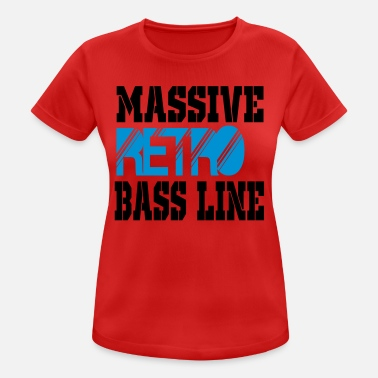 Bass Line massive retro bass line - Women's Breathable T-Shirt