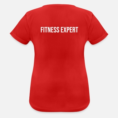 fitness expert red black - Frauen Sport T-Shirt
