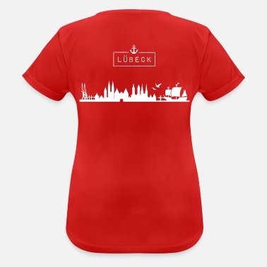 Hanseatic City Skyline Hanseatic City of Lübeck - Women's Breathable T-Shirt