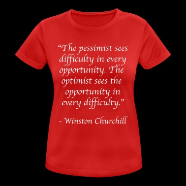 The pessimist - Women's Breathable T-Shirt