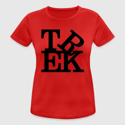 trek Homage to Robert Indiana black inside - Women's Breathable T-Shirt