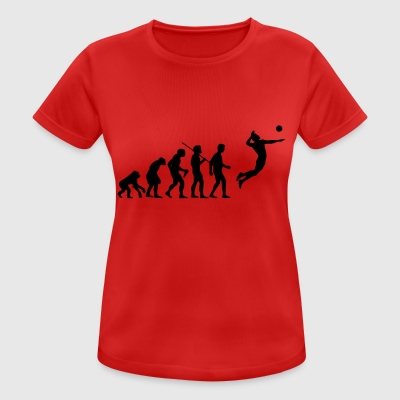 Volleyball Evolution - Frauen T-Shirt atmungsaktiv