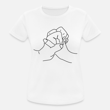 Line Art hands - Women's Sport T-Shirt