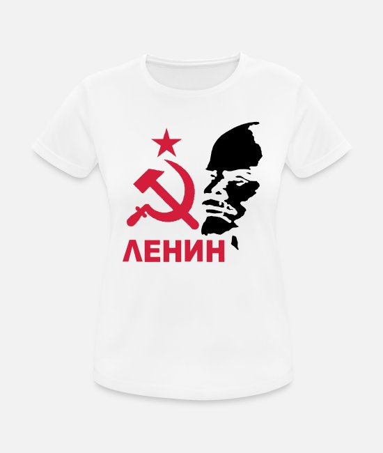 Communist T-Shirts - Lenin - Women's Sport T-Shirt white