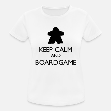 Keep Calm and Boardgame - T-shirt sport Femme
