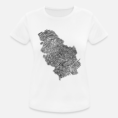 Belgrade Serbia fingerprint - Women's Sport T-Shirt