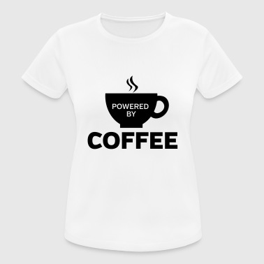 Powered By Coffee - Women's Breathable T-Shirt