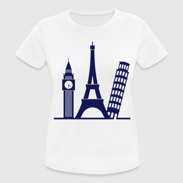 Europe / London / Parijs / Pisa - vrouwen T-shirt ademend