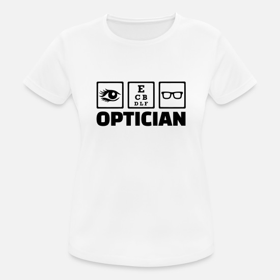 Eye T-Shirts - Optician - Women's Sport T-Shirt white