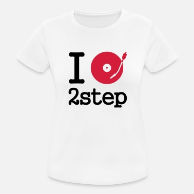 Disk I dj / play / listen to 2step - Frauen Sport T-Shirt