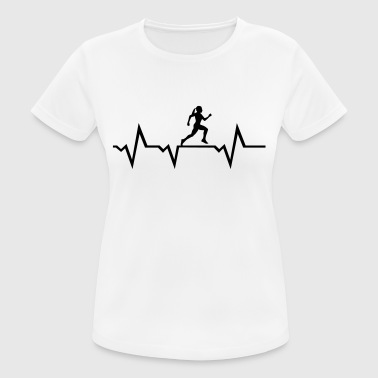 Running Woman & Heartbeat - Camiseta mujer transpirable