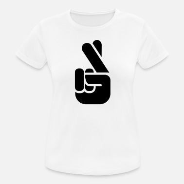 Fingers Crossed Fingers - Sports T-shirt dame