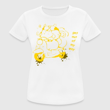 With Full Force Cat Bike - Women's Breathable T-Shirt