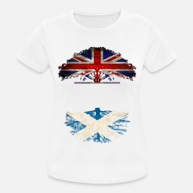 Scottish Roots British Grown With Scottish Roots - Women's Breathable T-Shirt