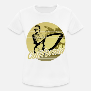 Malibu California Surfergirl Yellow - Frauen Sport T-Shirt