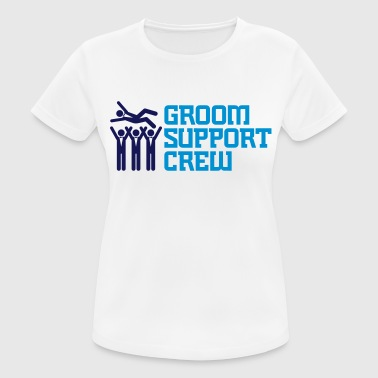 Support Team of the Groom - Women's Breathable T-Shirt
