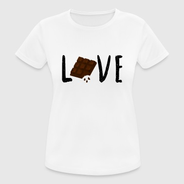 Chocolate Chocolate Love chocolate love gift idea - Women's Breathable T-Shirt