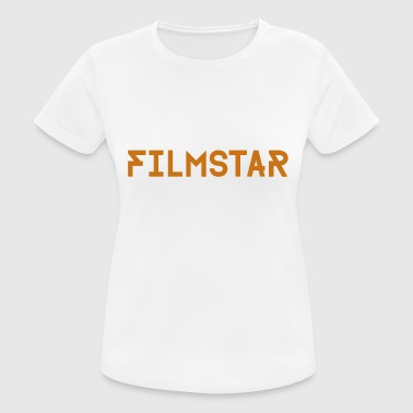 Movie Star Movie star lettering gold - Women's Breathable T-Shirt