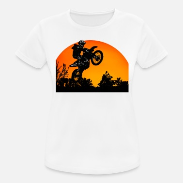Motorcycle Sunset - Women's Breathable T-Shirt