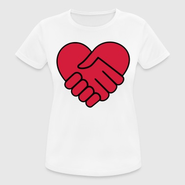 Hand On Heart Hand in hand heart red - Women's Breathable T-Shirt