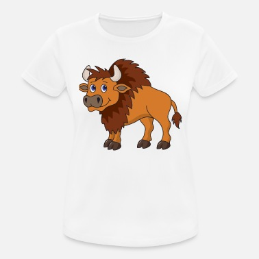 Bison Bison buffalo - Women's Breathable T-Shirt