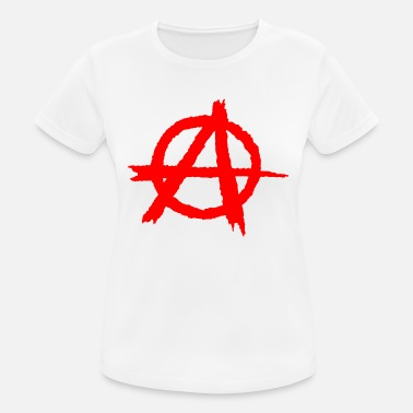 Symbol Rebel Chaos Anarchy / anarchy silhouette symbol in red - Women's Breathable T-Shirt