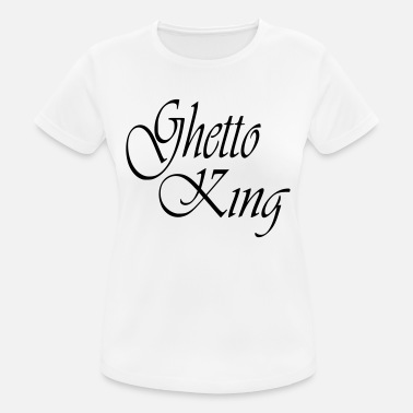 Hip-hop-accesorios Ghetto King Partnershirt Hip Hop Boy Regalo - Camiseta  mujer transpirable a3b6492d141