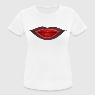 Kissing lips, red lips - Women's Breathable T-Shirt