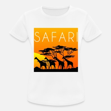 safari with giraffes, safari, giraffes - Women's Sport T-Shirt