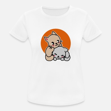 Two cats, cute, kawaii, gift idea - Women's Breathable T-Shirt