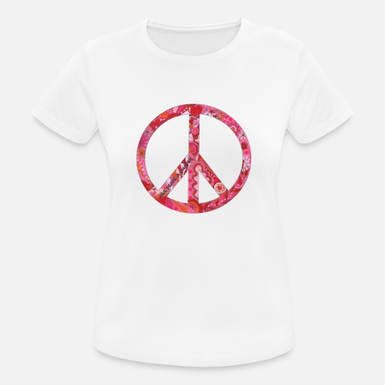 Peacetegn T-shirts - Fred - Sports T-shirt dame hvid