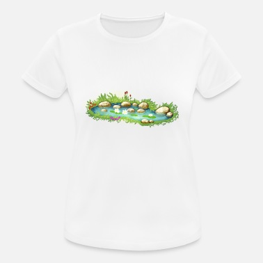 Pond Garden Pond Pond Water Plants - Women's Sport T-Shirt